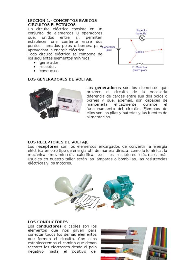 Circuito Basico Electrico : Tareas primeros a y b diseÑo de circuitos elÉctricos