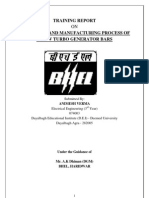 BHEL haridwar tarining report Block IV Electrical Engineering