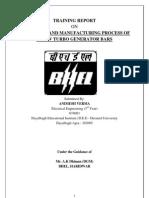 BHEL haridwar tarining report Block IV Electrical Engineering