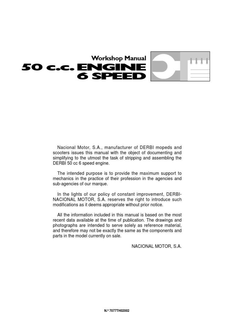 derbi senda service manual drd model carburetor transmission rh scribd com Derbi Moped Derbi Senda 50 2018