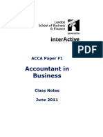 Acca Lsbf f1 Class Notes