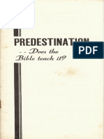 Predestination....Does the Bible Teach It