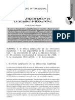 Arredondo, R.-Hacia la restauración de la legalidad internacional
