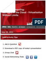 Managing Cloud Virtualization 630 Final