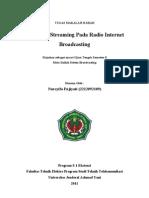 Teknologi Streaming Pada Video Dan Radio Internet Broadcasting