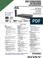335110f6e3 RDR-GX350 HX650 HX750 HX950 service manual