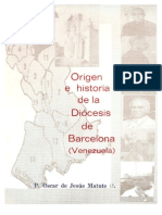 Origen e Historia de La Diocesis de Barcelona