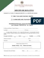 Suscripcion Paso y Candeleria