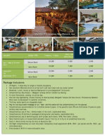 Mayfair Goa Package