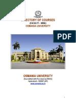 Courses in Osmania University