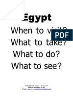 Egypt When to Visit , What to Take , What to Do