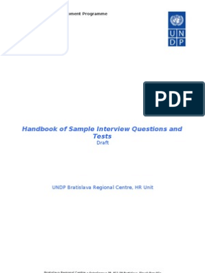 Handbook of Sample Interview Questions and Tests | Unemployment