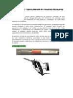 Manual de Soldaduras y Desoldadura en Tarjetas de Equipos