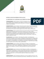Decreto de Suspension de Maestros 2011