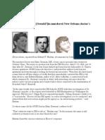 FBI Blocks a Name in JFK Assassination Link to Murdered New Orleans Doctor