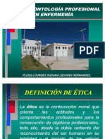 Presentación Etica y Deontologia Profesional en Enfermeria