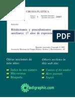 Ritidectomía y procedimientos