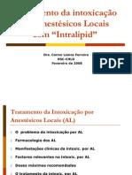 Tratamento da intoxicação por Anestésicos Locais com