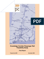 Knowledge Corridor Passenger Rail Feasibility Study 2009 PVPC