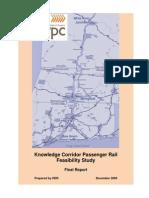 Knowledge Corridor Passenger Rail Feasibility Study 2009 PVPC