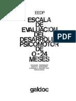 Escala de Evaluación del Desarrollo. Psicomotor