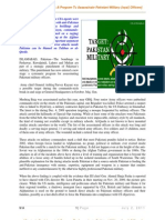 Strategic Punishment a Program to Assassinate Pakistani Military (Loyal) Officers