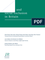 Poverty and Social Exclusion in Britain JRF Report