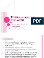 Konsep Rabbani Dan Nubuwwah