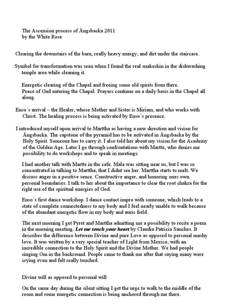 Ascension process of Ängsbacka 2011 | Prayer | God