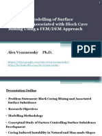 Block Caving Subsidence Modelling