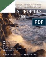 California County Health Status Profiles 2001
