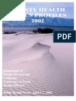 California County Health Status Profiles 2002