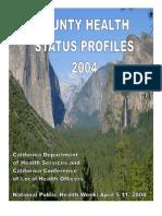 California County Health Status Profiles 2004