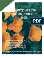 California County Health Status Profiles 2005