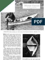 Motor Canoe Boat Plans