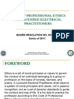 Code of Professional Ethics for Ee