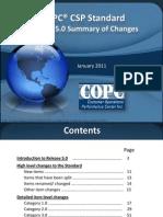 COPC 2011 Release 5.0 Changes