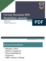 Format Penulisan RPH Pendidikan Jasmani