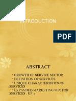 Service Marketing Introduction 2011