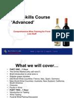 Advanced Wine Skills Training Course Matthew Clark