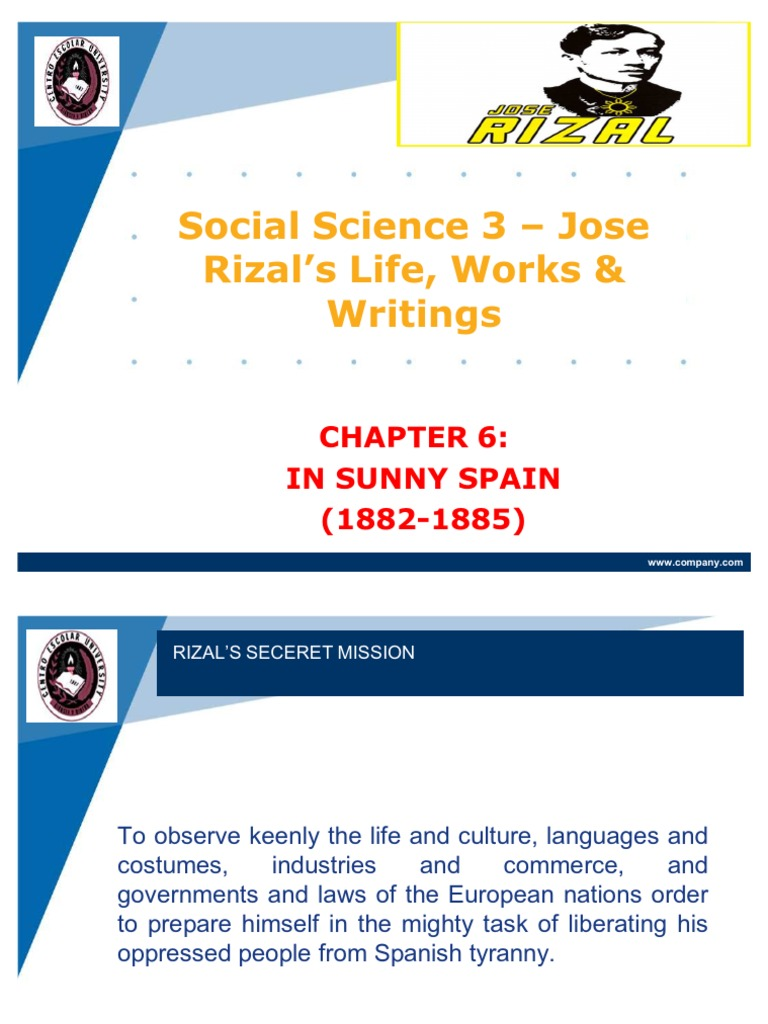 chapter 6 rizal summary
