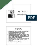 Allan Bloom Bio