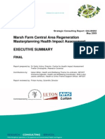 Marsh Farm Central Area Regeneration Masterplanning HIA Summary