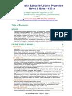 Health, Education, Social Protection News & Notes 14/2011