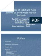 Preparation of NeK2 and Nek8 Sensors by Solid Phase Peptide Synthesis