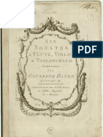 HAYDN, Franz Josef • Six sonates a flute, violon & violoncello ... [opus 11]  Amsterdam, J.J. Hummel [ca. 1771] (facsimile music source)