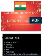 Contribution of Ncc in Nation Building