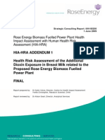Rose Energy Power Plant HIA Addendum 1
