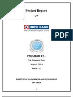 Project on HDFC Ltd. Bank (BL)