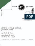 Skylab Payload Shroud Jettison Tests